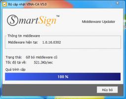 Gia hạn chữ ký số kê khai thuế Vina (Smartsign)