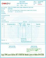 Bảng giá hóa đơn nhà mạng Newca