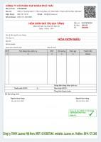 Mẫu hóa đơn điện tử  ViNa